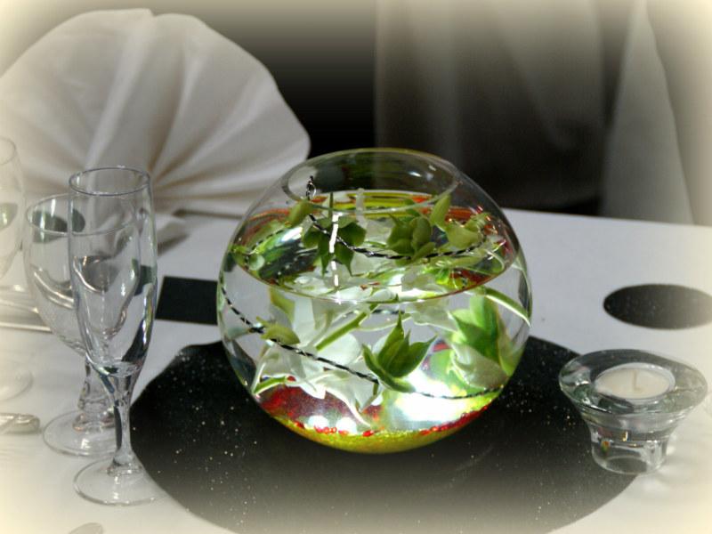 Vase boule location mariage en c tes d 39 armor - Vase en plastique pour centre de table ...
