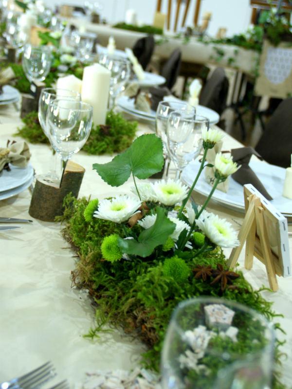 Mariage m di val en bretagne par sb d coration - Decoration table mariage fleurs naturelles ...
