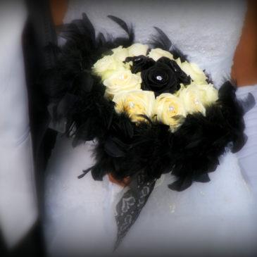 Noir et blanc pour un mariage à Saint-Thuriau