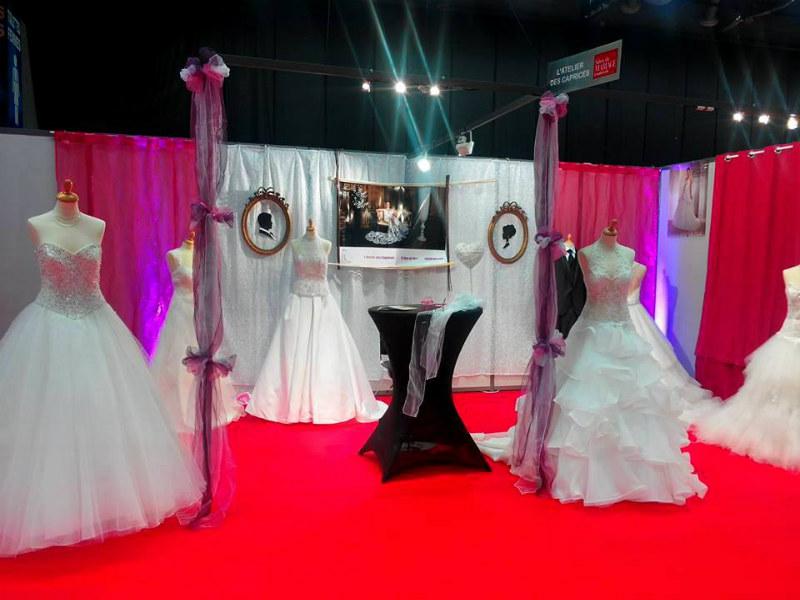 d coration de stand au salon du mariage de brest penfeld dekoratys. Black Bedroom Furniture Sets. Home Design Ideas